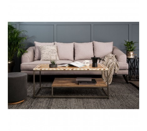 Mylo 3 Seater Natural Upholstered Sofa
