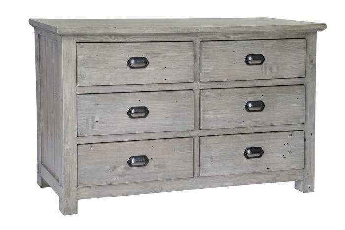 Homestead Pine 6 Drawer Dresser