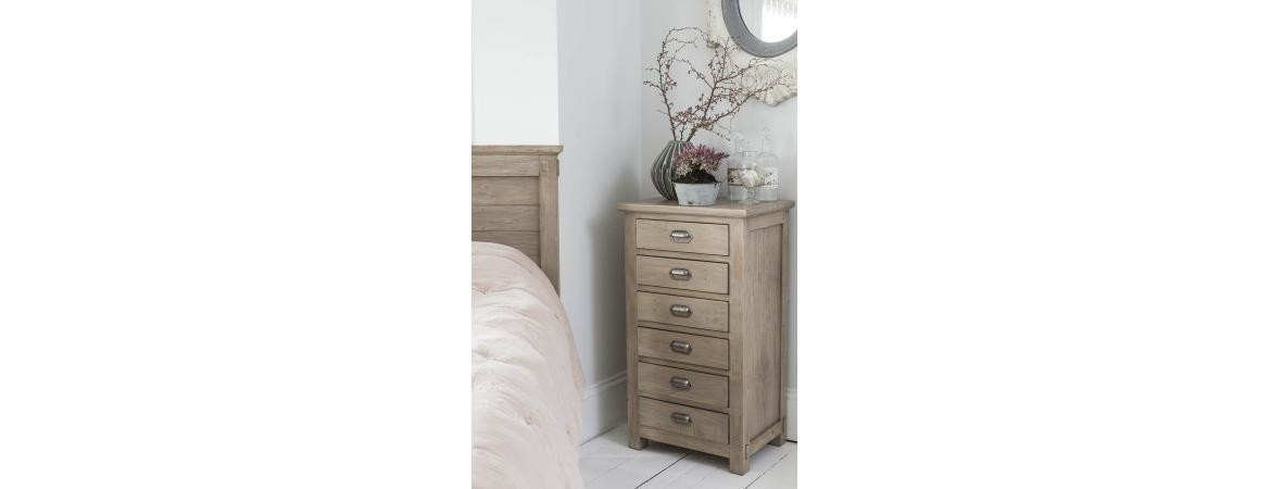 Homestead PineTall Boy with 6 Drawer Chest