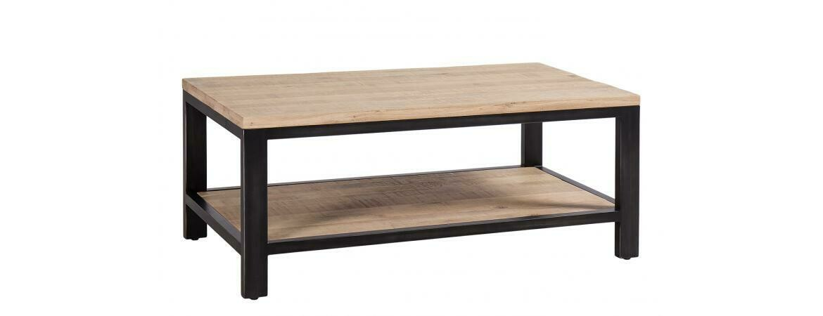 Forge Iron and Oak Coffee Table