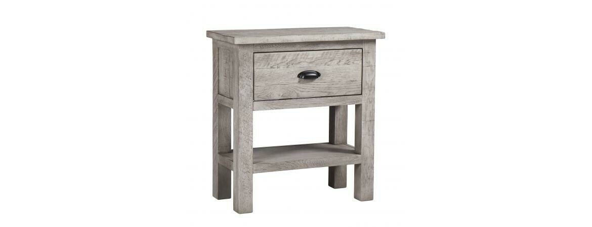 Vancouver Sawn Weathered Grey 1 Drawer Console Table