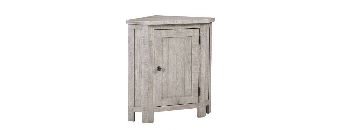Vancouver Sawn Weathered Grey Lamp Table