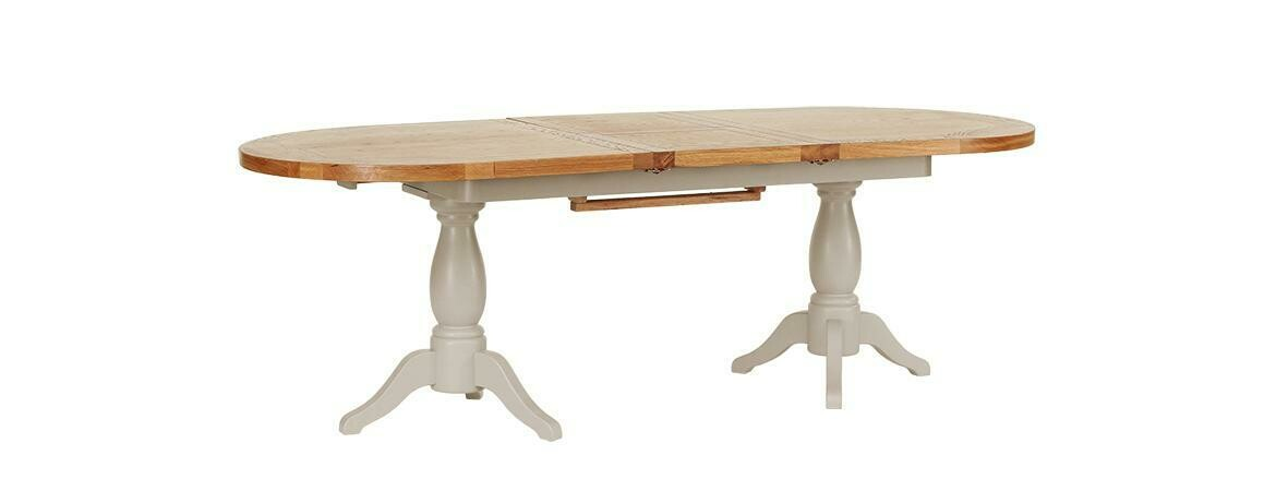 Oak Wood Extendable Dining Table 1.9m-2.4m