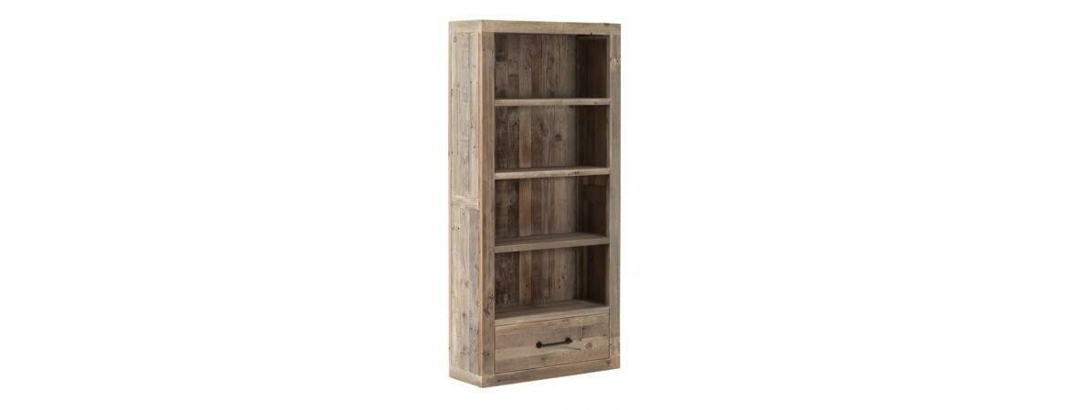 Cal Stadium Reclaimed Wood 1 Drawer Bookcase