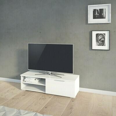 Match 1 Drawer 2 Shelves TV Unit in White