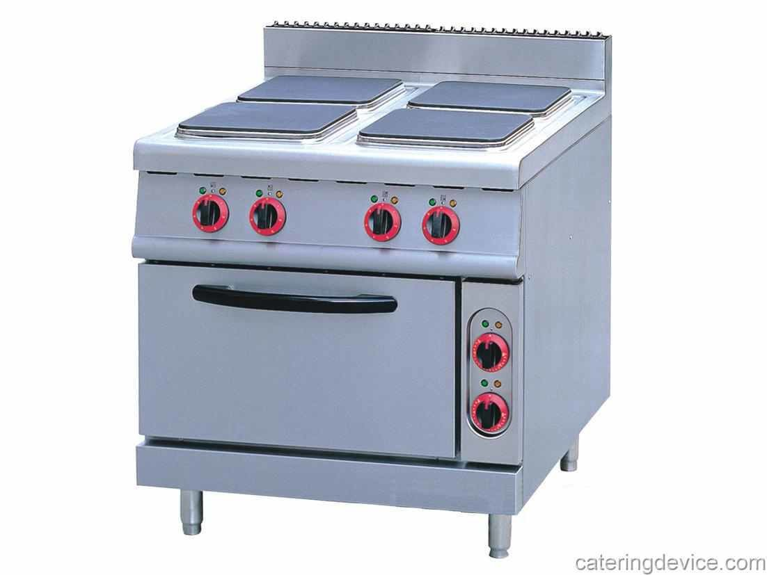 ELECTRIC RANGE WITH HOTPLATE & ELECTRIC OVEN (Square)