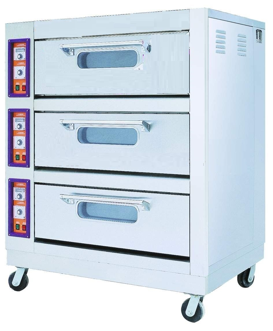 GAS HEATING BAKING OVEN