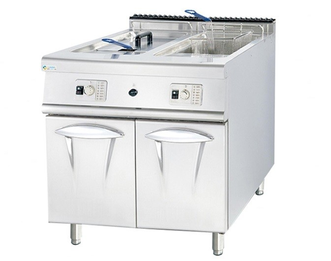 GAS FRYER (2 TANK 2 BASKET)WITH CABINET