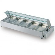 S/S Mini Bain Marie Counter 5 GN Tray Without cover
