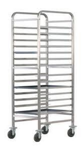 STAINLESS STEEL SINGLE-LINE TRAY TROLLEY