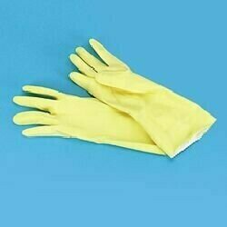 8440SM GLOVES FLOCK LINED SMALL YELLOW