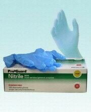 8644S GLOVES SMALL DISPOSABLE POWDERFREE BLUE NITRILE 4MIL 100/BX 10BX/CS