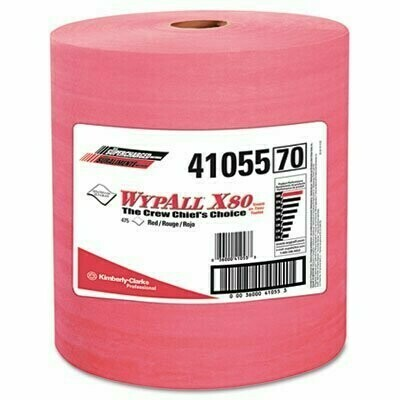 41055 WYPALL X80 TOWEL JUMBO ROLL RED 475/ROLL 1RL/CASE
