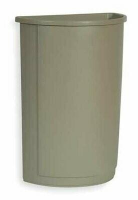 FG352000BEIG BEIGE 21GAL HALF ROUND CONTAINER 4/CASE