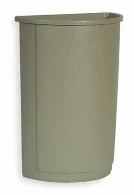 FG352000GRAY GRAY 21GAL HALF ROUND CONTAINER 4/CASE