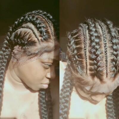 Stitch Cornrow feed-in braids