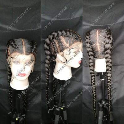 Full Lace Dutch Cornrow braided Wig