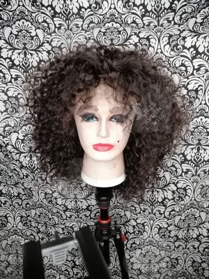 Natural curly big hair custom wig