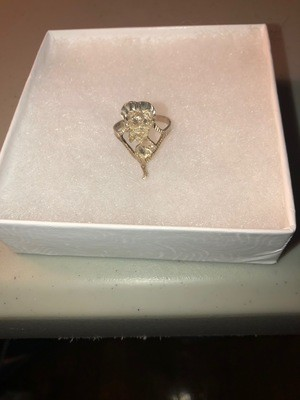 Betty Boop Sterling Silver Ring w/Gold Overlay .925