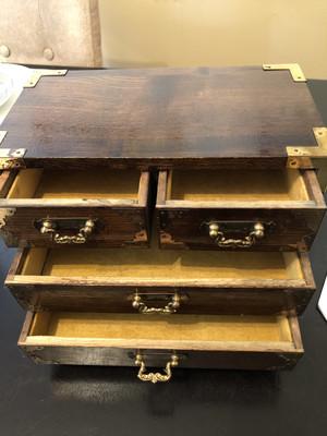 Wooden Rustic Jewelry Box