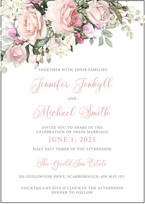 Romantic Floral Invitation
