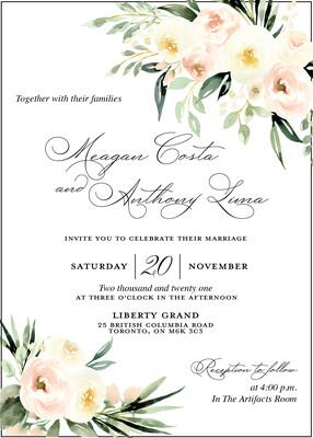 Spring Watercolour Floral Invitation