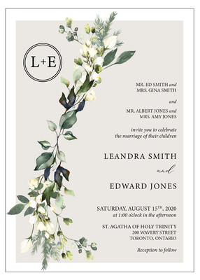 Rustic Chic Floral Invitation