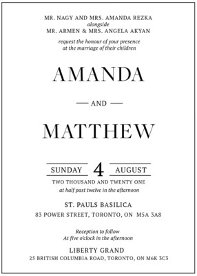 Modern and Classic Invitation