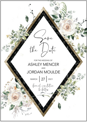Geometric Floral Save the Date