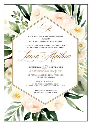 Spring Watercolour Floral Invitation