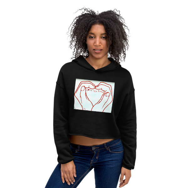 Love All Y'ALL (Paris)  Crop Hoodie