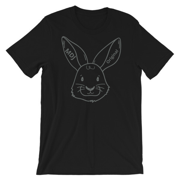 """MDJoriginal """"The Rabbit Tee"""" gray outline Short-Sleeve Unisex T-Shirt"""