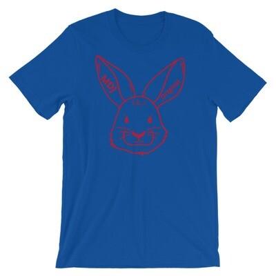 """MDJoriginal """"The Rabbit Tee"""" Red outline Short-Sleeve Unisex T-Shirt"""