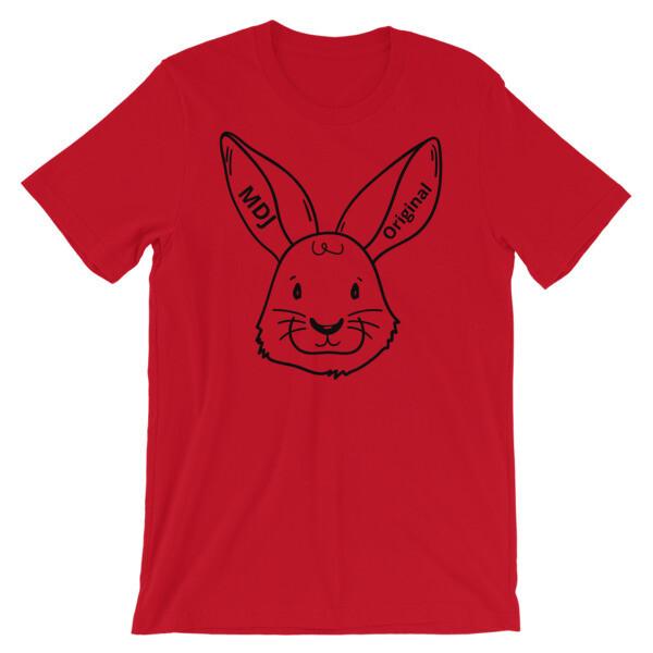 "MDJoriginal ""The Rabbit Tee"" Black outline Short-Sleeve Unisex T-Shirt"