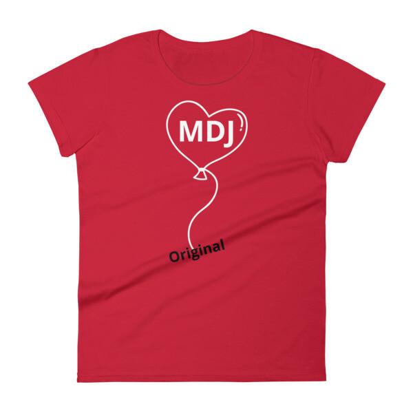 MDJ Original balloon logo  Women's short sleeve t-shirt