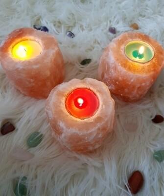 Himalayan Salt Tea Light Holders 🧡