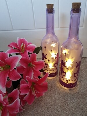 Unicorn LED Light In A Bottle (single)