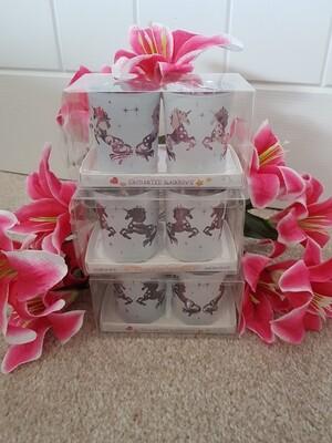 Unicorn rose gold Tea Light Holders (set of 2)
