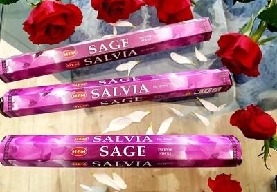 Sage (salvia) incense sticks (20 pack)