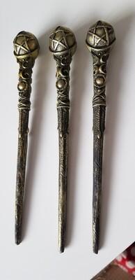 Pentagram bronze wand