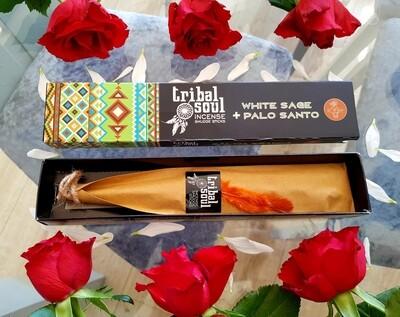 Sage & palo Santo smudge incense sticks (12 pack)