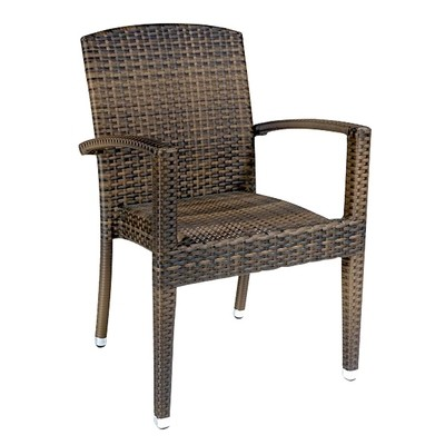 Outdoor Wicker Dining Chair Arm