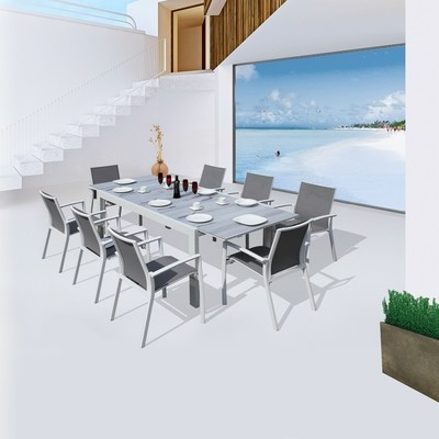 9 Pcs Seater Outdoor Table and Chair
