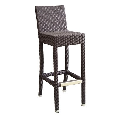 Outdoor Wicker bar Stool with Back