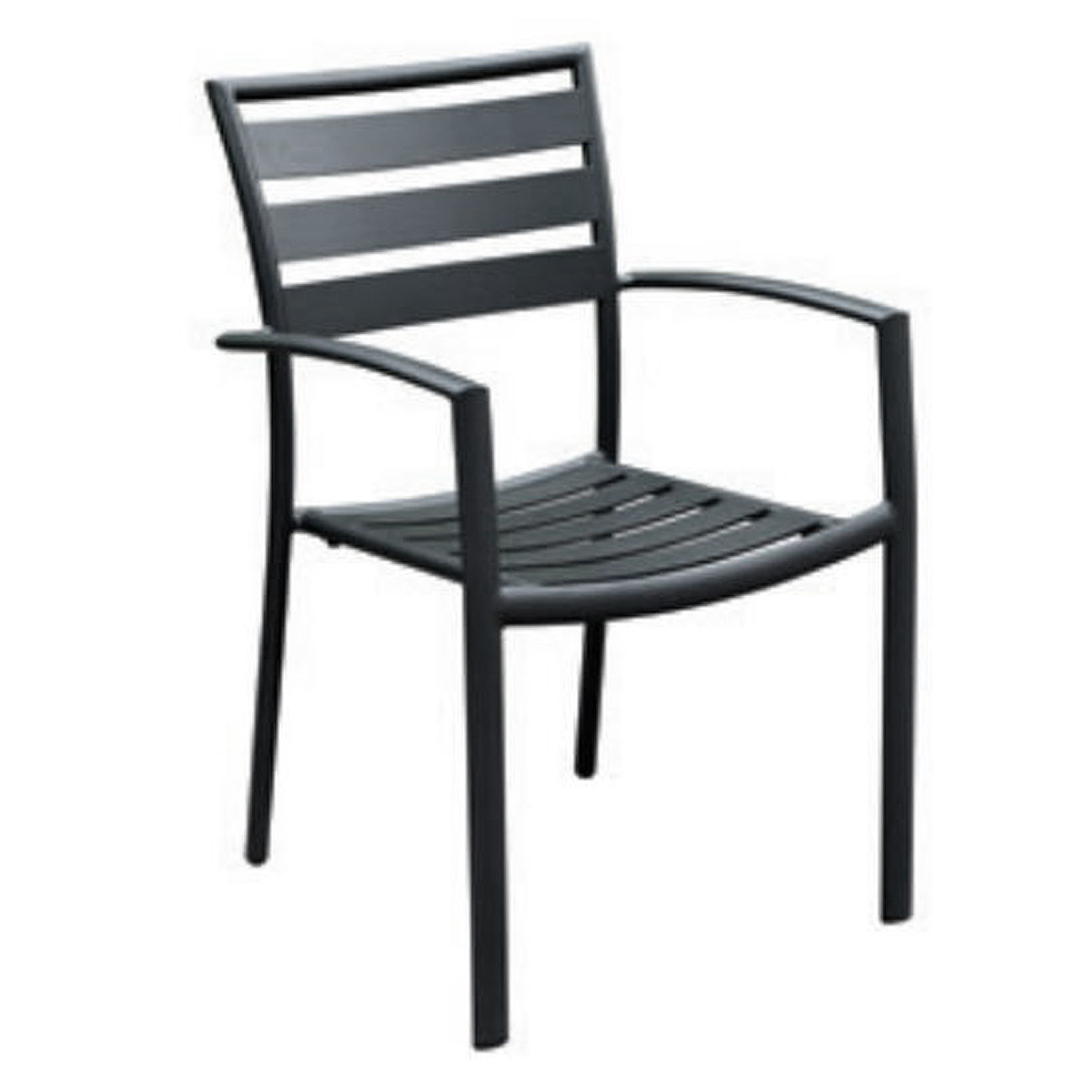 Contract Strap Aluminum Stackable Dining Chair
