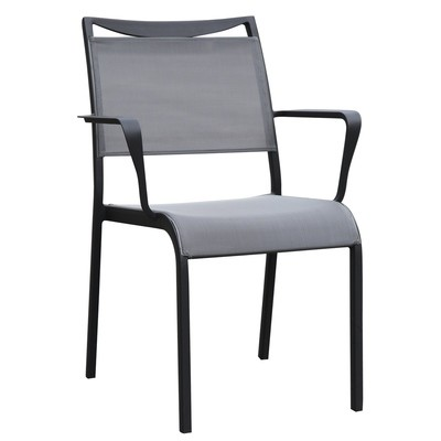 Patio Aluminum Sling Dining Chair with Arm