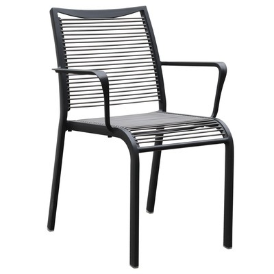 Vinyl Cord Patio Chair Aluminum Frame