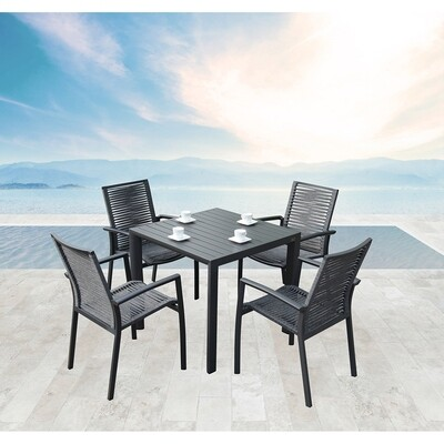 Outdoor patio dining table with chair sets for garden hotel contract outdoor furnishings