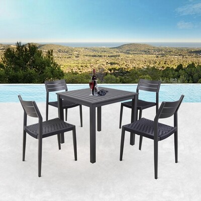 Residential & Commercial 5 pieces Aluminum Patio Outdoor Lounge Set Garden Grade