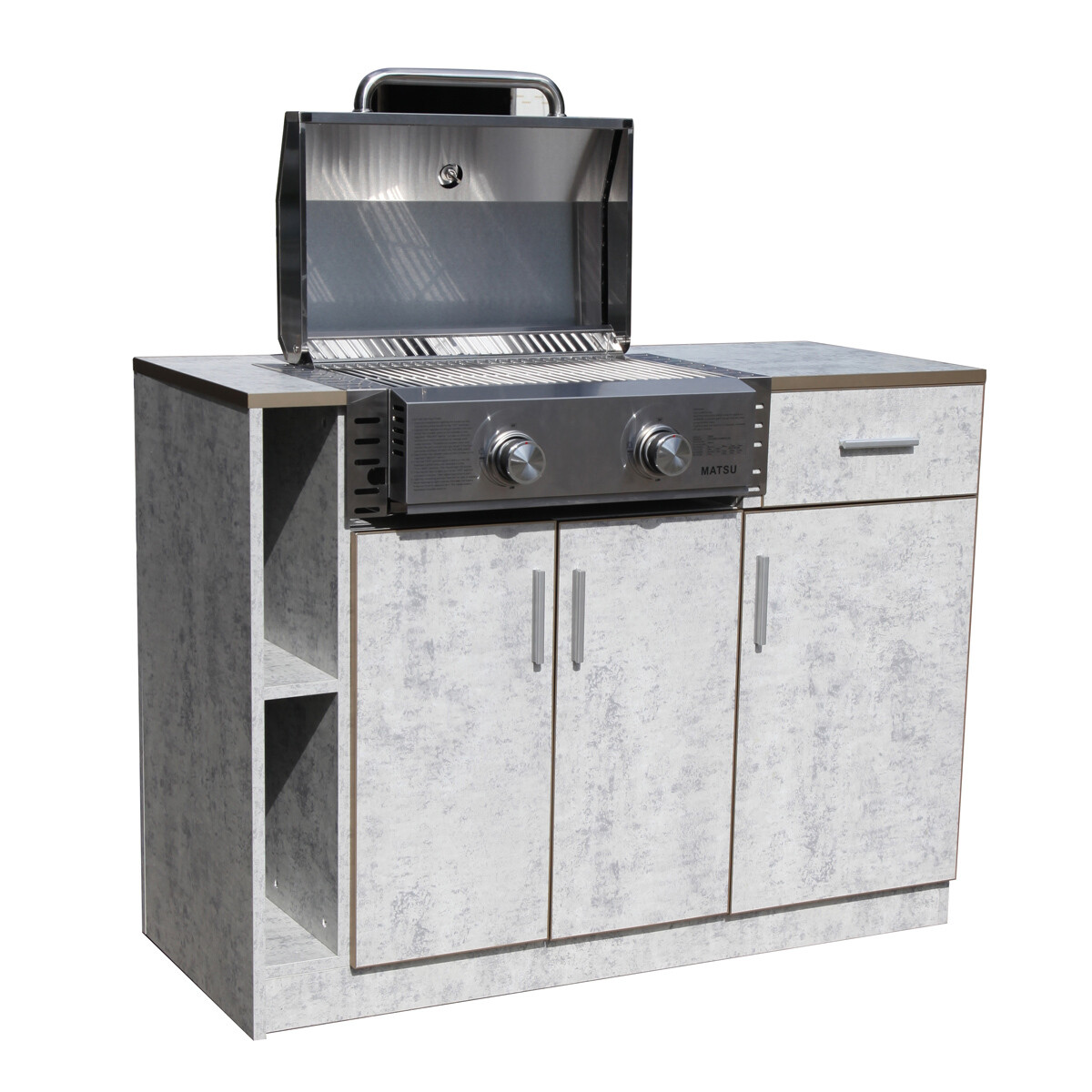 Contemporary outdoor kitchen Island KI02